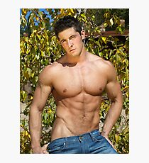 Elite Male Fitness Model - A003 Photographic Print