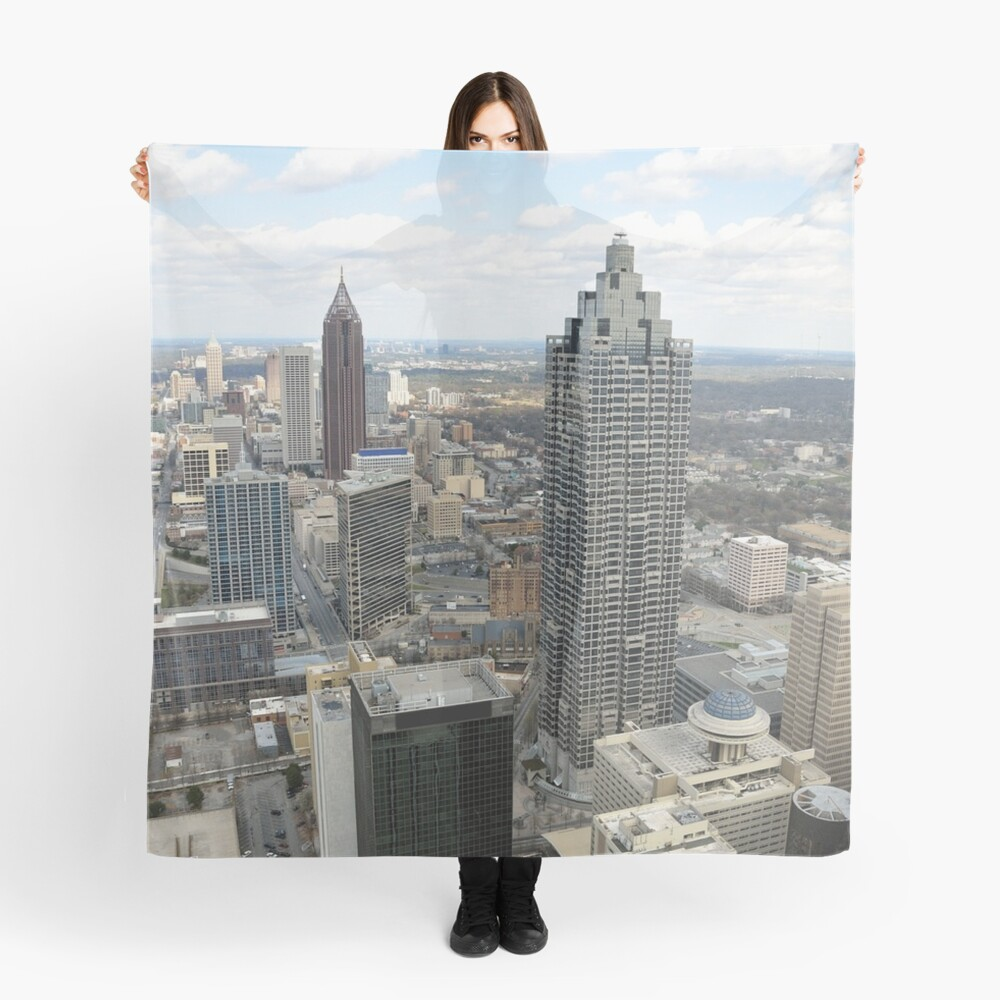 Atlanta Aerial View (Day Time)  Scarf