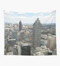 Atlanta Aerial View (Day Time)  Wall Tapestry
