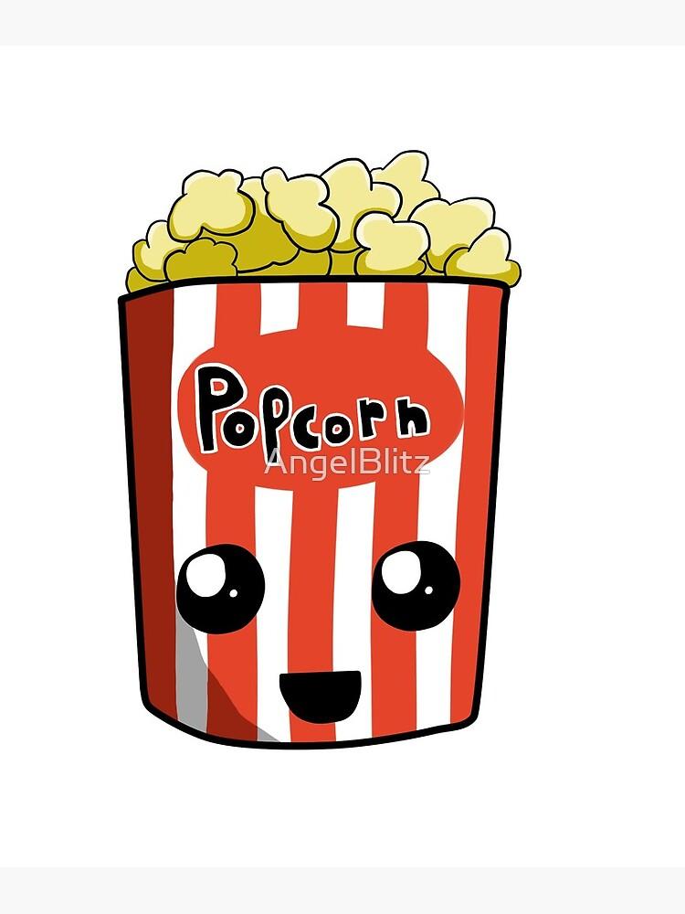 Popcorn kawaii. Metal print