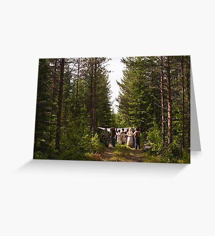 Linnévandring - Juli - Västra Spöland Greeting Card