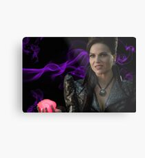Evil Queen Heart Metal Print
