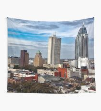 Mobile City Skyline (Alabama) Wall Tapestry