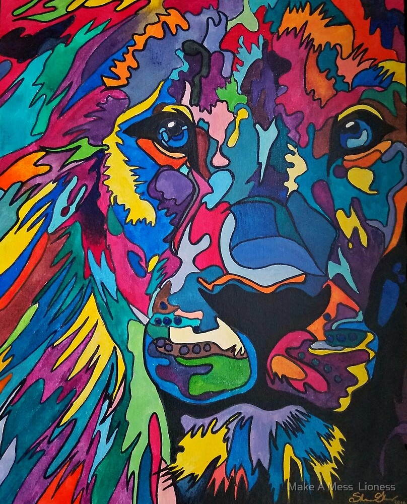 Colorful Puzzle Lion by sglover10