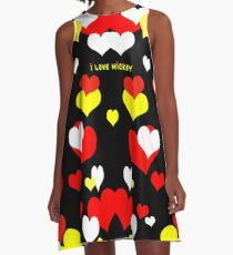 I Love Mickey A-Line Dress