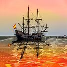 Sail Boston -El Galeon Andalucia by LudaNayvelt