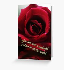 red rose for mother's day Greeting Card