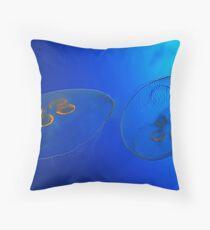 A Blue World Throw Pillow