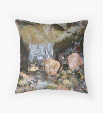 Manmade Waterfalls V Throw Pillow