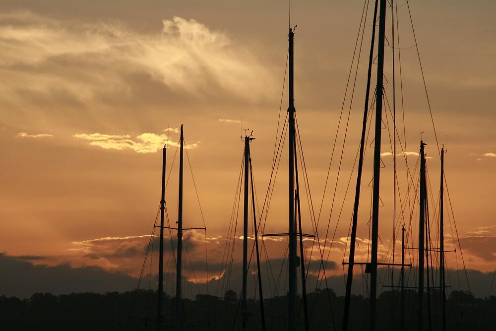 Rigging sunset by Randalb