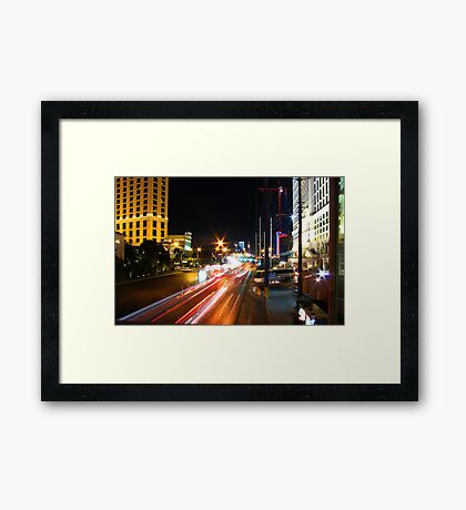 Racing Down The Strip Framed Print