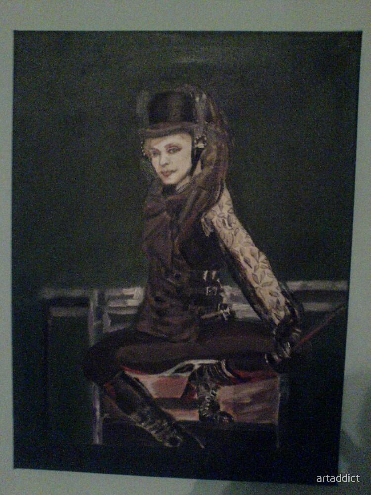Lady horse rider by artaddict