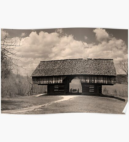 Cantilever Barn Poster