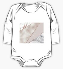 Spliced mixed rose gold marble Kids Clothes