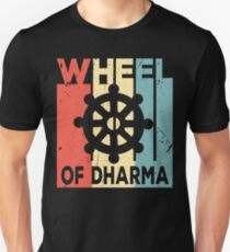 Buddhism Wheel of Dharma Vintage Retro T-Shirt