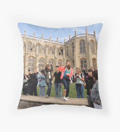 The Tourists (Windsor, 2014) Throw Pillow