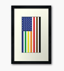 Gay Pride intersectional Flag Framed Print