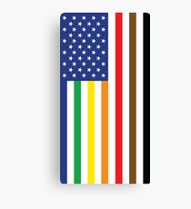 Gay Pride Intersectional Flag Canvas Print
