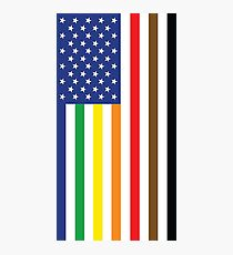 Gay Pride Intersectional Flag Photographic Print