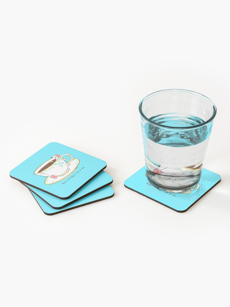 Alternate view of Relax And Enjoy A Cup Of Tea Coasters (Set of 4)