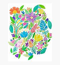 bright happy fun florals Photographic Print