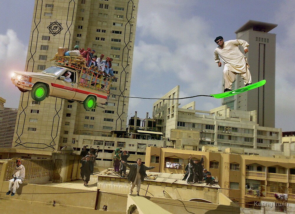 Karachi Skyboarding Competition by Kenny Irwin