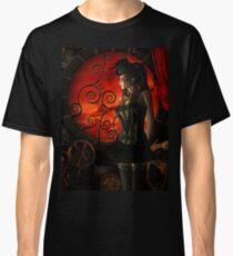 Steampunk, wonderful steampunk lady Classic T-Shirt