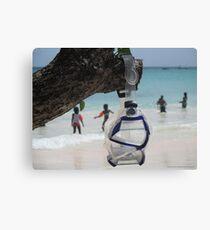 goggles on beach Canvas Print