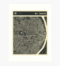 SAINT LOUIS MAP Art Print