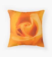 Apricot Tea Rose Throw Pillow