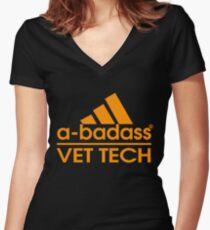 VET TECH BEST COLLECTION 2017 Women's Fitted V-Neck T-Shirt