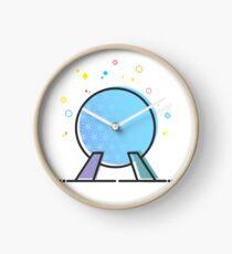 Spaceship Earth Epcot Ride Vector Illustration Cute Design Artwork Clock