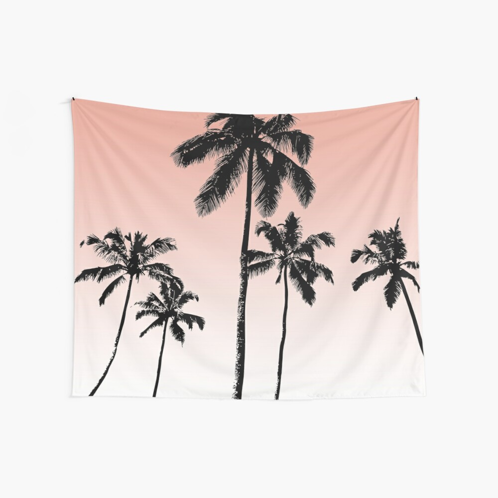 Sunset palms Wall Tapestry
