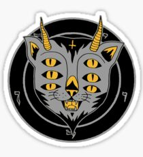 six eye cat Sticker