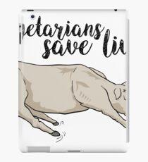 Vegetarians save lives iPad Case/Skin