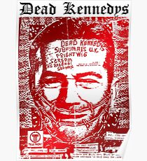 Dead kennedys face Poster