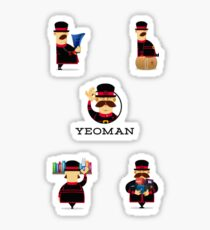 yeoman set Sticker