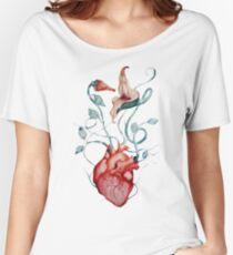 Pink Floyd Flowers | Watercolor painting | Rock fan art Women's Relaxed Fit T-Shirt