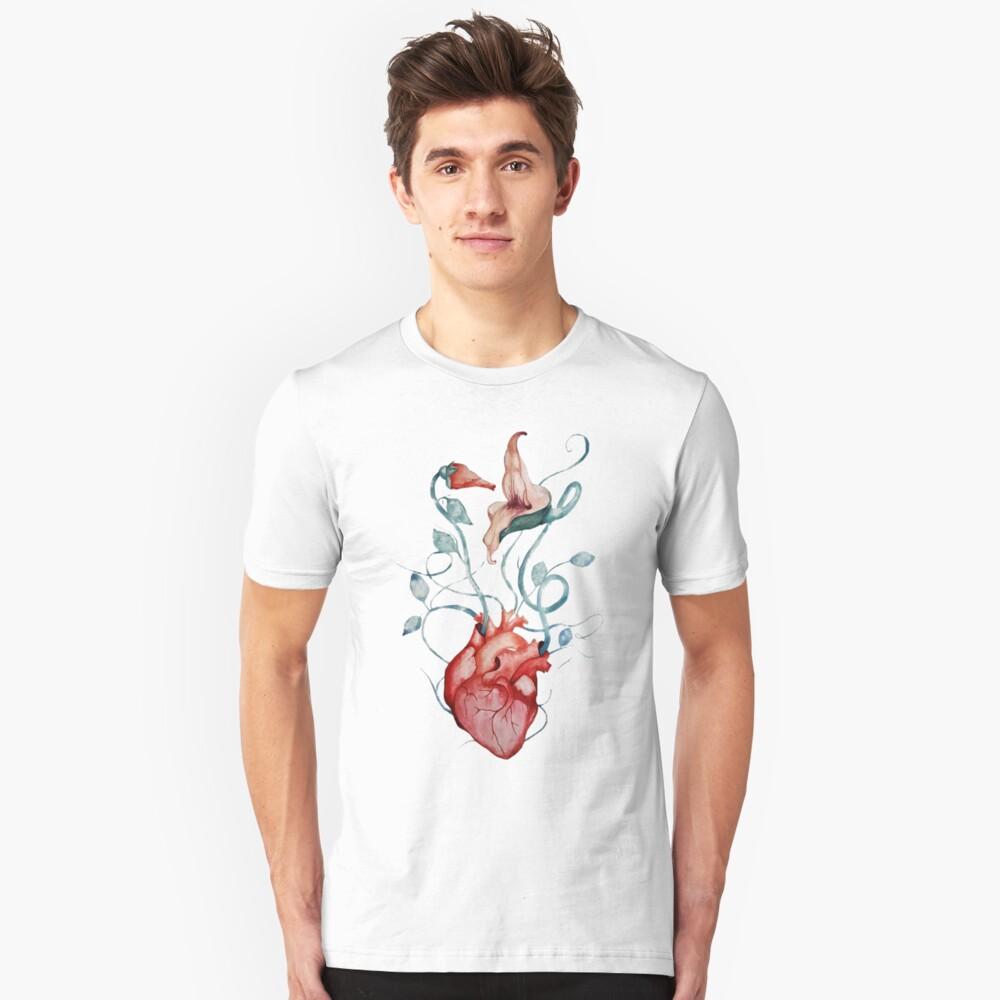Pink Floyd Flowers | Watercolor painting | Rock fan art Slim Fit T-Shirt