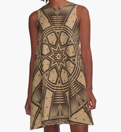 Vintage Native American Gathering A-Line Dress