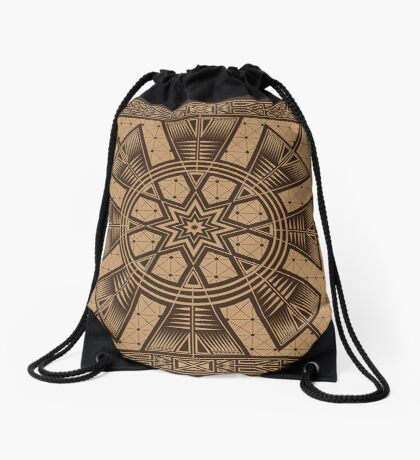 Vintage Native American Gathering Drawstring Bag
