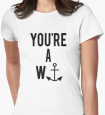 YOU'RE A WANKER Womens Fitted T-Shirt