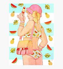 BabyPastelHanni Summer Holidays Photographic Print