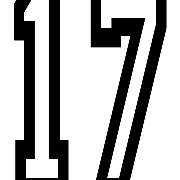 17, TEAM SPORTS, NUMBER 17, SEVENTEEN, SEVENTEENTH, ONE, SEVEN, Competition,  by TOMSREDBUBBLE