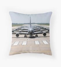 Six KC-135 Stratotankers demonstrate the elephant walk formation. Throw Pillow