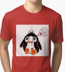 Psycho Penguin  Tri-blend T-Shirt