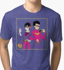 Robins (for blue) Tri-blend T-Shirt