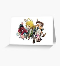 seven deadly sins Greeting Card