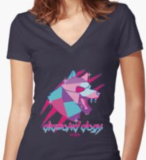 Diamond Dogs Women's Fitted V-Neck T-Shirt