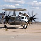 Ein E-2C Hawkeye auf der Landebahn bei Cannon Air Force Base. von StocktrekImages
